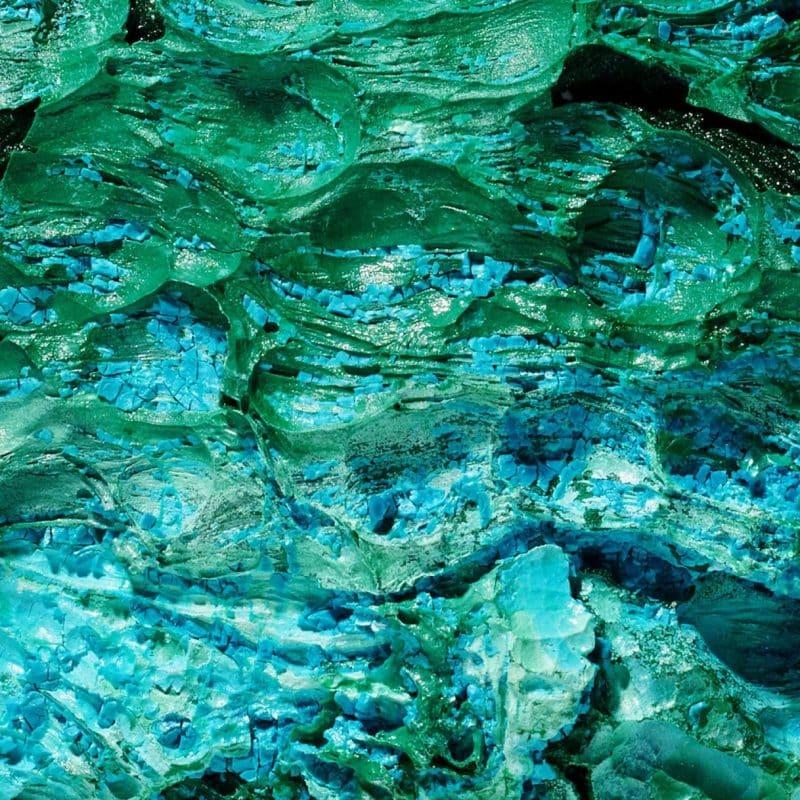 Malachite แร่หินลายหินอ่อนสีฟ้า